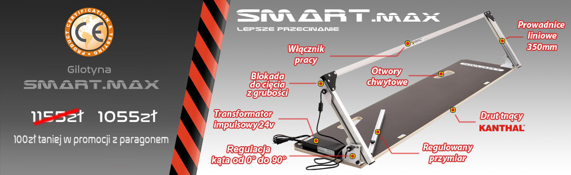 Gilotyna do styropianu Smart max